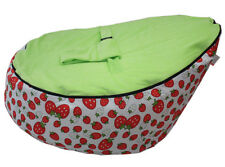 strawberry canvas Baby infant Bean Bag Snuggle Bed 2 upper layers NO Filling