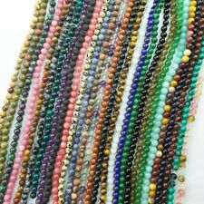 Strand Of Mixed Gemstone Round Loose Bead 15.5 inch