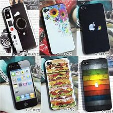 Decal skin sticker back skin sticker Fitted Protector For Apple IPhone 4 4S