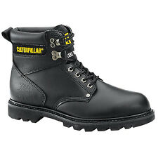 "CAT Men's Second Shift Steel Toe Lace Up 6"" Work Boots Black P89135"