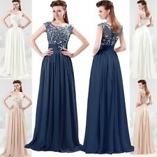JS Long Chiffon Evening Formal Bridesmaid Wedding Pageant Gown Prom Party Dress