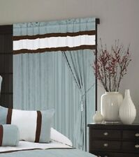 """A pair of Window Curtain / Drapes / Panels with sheer lining set 120x84""""(WxH)"""