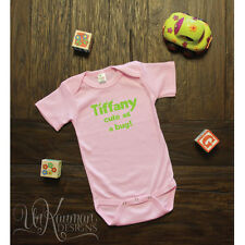 Personalized w/Name Cute as a bug Baby Shower Gift Romper / Bodysuit for girls