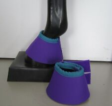 Horse Bell or overreach Boots Purple & Turquoise AUSTRALIAN MADE Protection