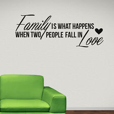 Family Is What Happens Wall Sticker Family Quote Wall Decal Art