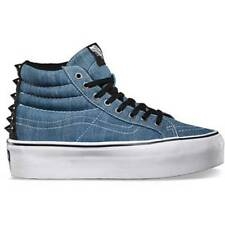 VANS SK8-HI PLATFORM STUDDED BLUE T WHITE MENS / WOMENS SHOES AUSTRALIAN SELLER