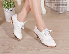 2014 Women's Lace Mixed-color Retro Preppy Style Oxford Flat Causal Shoes C620