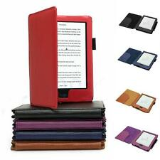 New Magnetic PU Leather Case Cover With Auto Wake Sleep For KOBO AURA HD + Pen