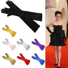 Ladies Long Elbow Evening Gloves Flapper 20s Fancy Dress Xmas Opera Burlesque