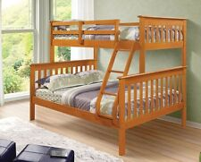 TWIN OVER FULL PINE BUNK BED - HONEY FINISH