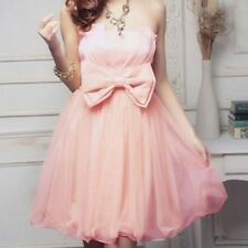 korean fashion Women's Strapless Bridesmaid Dresses Short formal evening gowns