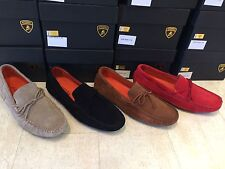 Automobili Lamborghini Mens Shoes Moccasin Suede Low Sneakers - New In Box