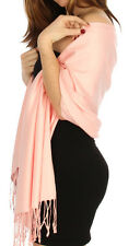 Solid Pashmina Silk Scarf  Shawl Wrap wholesale lot of 12 Buy 5 Get 1  for Free