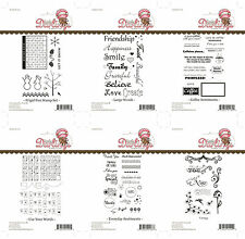 Little Darlings Sentiments Unmounted Rubber Stamps - MULTIPLE DESIGNS
