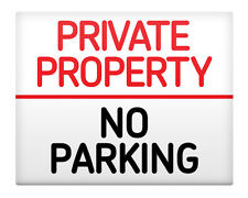 """NO PARKING Private Property Metal Sign 8x10"""" Access Business Premises Safety #34"""