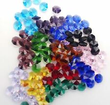 🌈jll💜50x 14mm CRYSTAL OCTAGON BEADS MIXED 1H craft suncatcher prism supplies