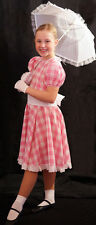 1940's-Easter Parade-Edwardian-Country Girl PINK & WHITE Fancy Dress ALL AGES
