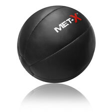 Met-X Heavy Duty Leather Pro Medicine Ball 8Kg,10Kg Exercise Fitness Black