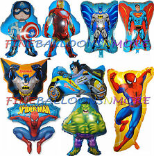 SUPERHEROES BALLOONS (MANY DESIGNS) BIRTHDAY PARTY SUPPLIES