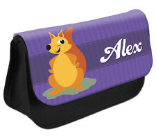PERSONALISED Squirrel Pencil Case Make up Bag - Kids School Great Gift Idea DS