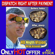 HD Vision Wrap Around Sunglasses Fits Over Your Prescription Glasses Wraparounds