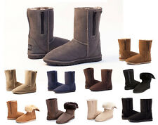 Breezer Short Ugg Boots with Zip / Zipper Premium Australian Sheepskin