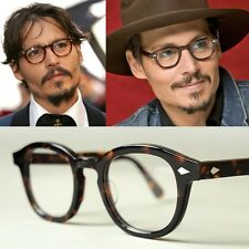 VINTAGE Glasses Black Tortoise Johnny Depp Optical Round Wayfarer Frame Original