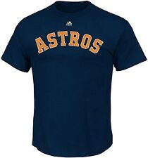Houston Astros MLB Licensed Majestic Team Tee Shirt Navy Big & Tall Sizes