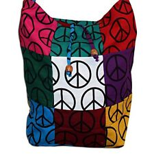 Wholesale Lot Peace Cotton Handmade Hippie Large Shoulder Bag Sling Zipper Purse