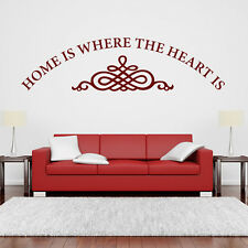 Home Is Where The Heart Is Wall Sticker Home Wall Decal Art