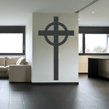 Plain Cross Wall Sticker Religious Wall Decal Art