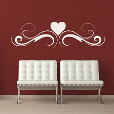 Heart Embellishment Heading Wall Sticker Floral Wall Decal Art