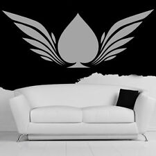 Winged Ace Of Spades Wall Sticker Patterned Wall Decal Art