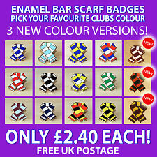 RETRO BAR SCARF ENAMEL PIN BADGE FOR FOOTBALL, RUGBY LEAGUE & RUGBY UNION FANS