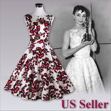 Hepburn Style 50's Evening Party Wedding Prom Rockabilly Retro Swing Dress