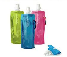 New Flexible Collapsible Foldable Reusable Water Bottles Ice Bag 6 Color