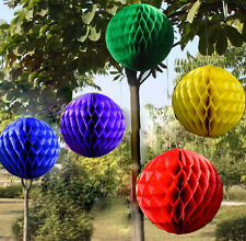 Multicolor Honeycomb Ball Paper Lanterns Wedding Birthday Home Decorations HS