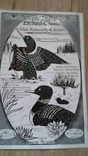 Loon Etched Glass Decal