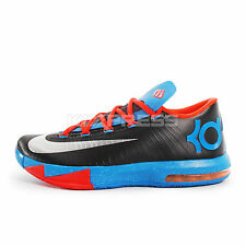 Nike KD VI [599424-004] Basketball Durant Black/Silver-Orange-Blue