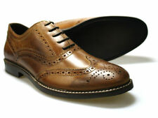 Red Tape Bradshaw Men's Brown Leather Brogue Shoes UK 7 - 11 RRP £45 Free P&P!