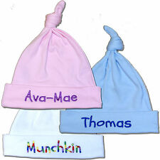 Personalised Baby Hat Birth/Baby Shower/New Baby Boy/Girl/Christening Gift