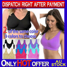 2x Bra Black White Beige Pink Blue Purple S M L XL XXL XXXL ahh so comfy aah