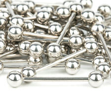 Steel Tongue Bar Straight Barbell Piercing Eyebrow Tragus Nipple Ring
