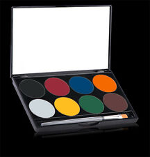 Mehron Paradise Face Paint 8 Colors Basic,Pastel,Tropical,Brilliant,Nuance,Empty