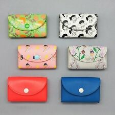 Colorful Funny&Unique Painting Business Credit ID Card Case Button Small Wallet