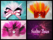 Val's Dog Bows~ Feather bow choice for Yorkie, Shih-tzu, Human  ponytail bow