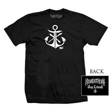 Men's Steadfast Brand Anchor Tee by Jime Litwalk Black Nautical Art Tattoo Ink