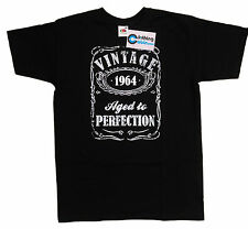 Vintage Aged to Perfection 1964 50th Birthday Present T Shirt 50 Years Old