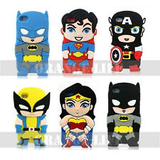 For Apple iphone 4 4S 5 5S Comic Super heroes 3D Silicone Soft Case Cover Skin