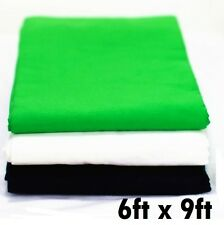 Studio photo black whtie green muslin backdrop heavy duty high key background